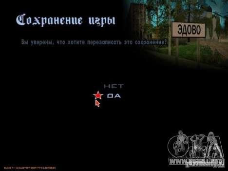 GUARDAR en cualquier lugar para GTA San Andreas tercera pantalla