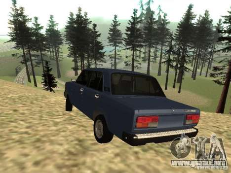 VAZ 2107 v1.1 para GTA San Andreas left