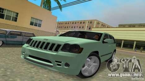 Jeep Grand Cherokee para GTA Vice City vista lateral izquierdo