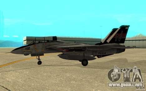 F-14A Screaming Eagles VF-51 para GTA San Andreas vista posterior izquierda