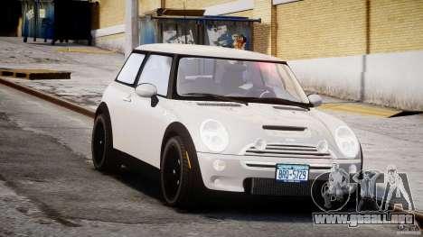 Mini Cooper S 2003 v1.2 para GTA 4 vista hacia atrás