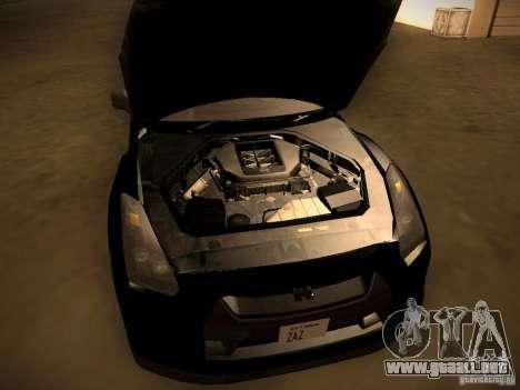 Nissan GT-R para visión interna GTA San Andreas