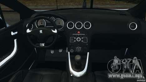 Peugeot 308 GTi 2011 v1.1 para GTA 4 vista hacia atrás