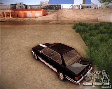 BMW E21 para GTA San Andreas vista posterior izquierda