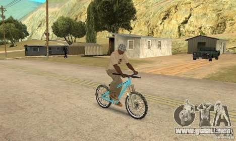 Dirt Jump Bike para GTA San Andreas vista hacia atrás