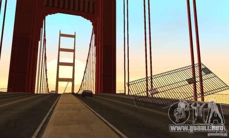 Puente destruido en San Fierro para GTA San Andreas séptima pantalla