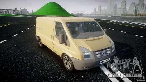 Ford Transit 2009 para GTA 4 vista hacia atrás