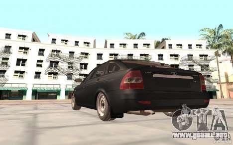 Hatchback LADA priora 2172 para GTA San Andreas vista posterior izquierda