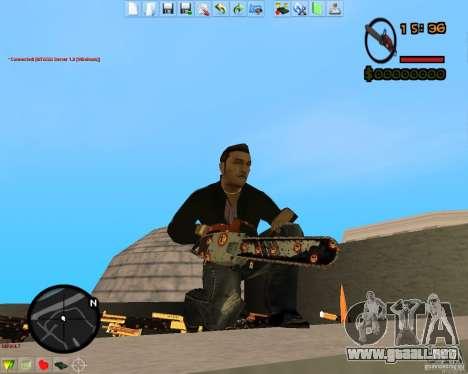 Smalls Chrome Gold Guns Pack para GTA San Andreas quinta pantalla