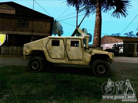 Hummer H1 Irak para GTA San Andreas left