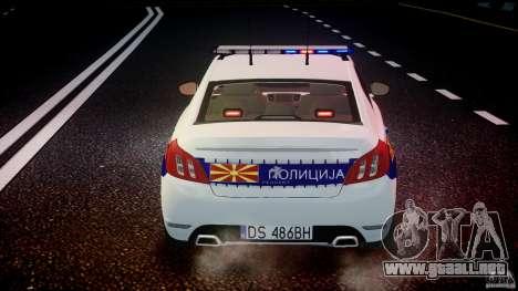 Peugeot 508 Macedonian Police [ELS] para GTA motor 4