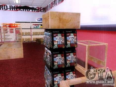 Conduce con el GTA en tienda cero para GTA San Andreas sucesivamente de pantalla