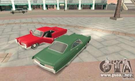 Pontiac Bonneville 1966 para visión interna GTA San Andreas