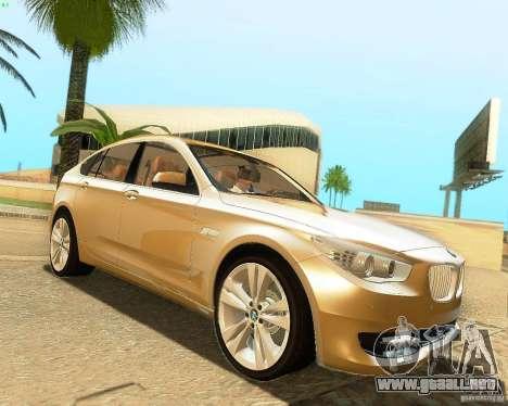 BMW 550i GranTurismo 2009 V1.0 para GTA San Andreas vista hacia atrás