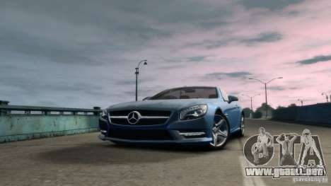 Mercedes-Benz SL 350 2013 v1.0 para GTA 4 Vista posterior izquierda