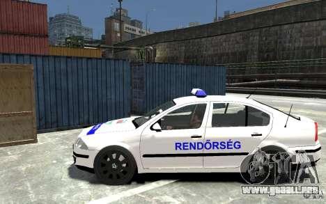 Skoda Octavia 2005 Hungarian Police para GTA 4 left