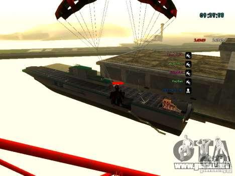 Mochila-paracaídas para GTA: SA para GTA San Andreas séptima pantalla