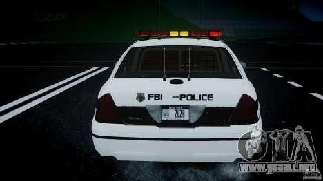 Ford Crown Victoria 2003 FBI Police V2.0 [ELS] para GTA 4