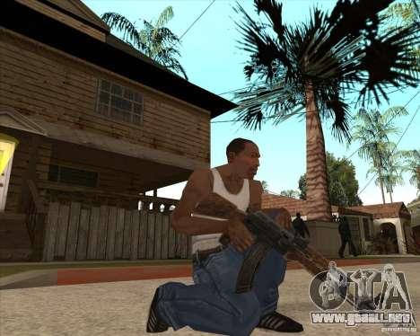 CoD:MW2 weapon pack para GTA San Andreas sucesivamente de pantalla