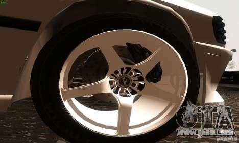 Mercedes-Benz 190E V2.0 para GTA San Andreas vista posterior izquierda