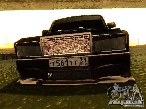 VAZ 2107 X-estilo para visión interna GTA San Andreas