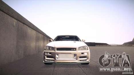 Nissan Skyline R34 para la vista superior GTA San Andreas