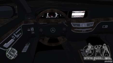 Mercedes-Benz S65 AMG para GTA 4 vista lateral