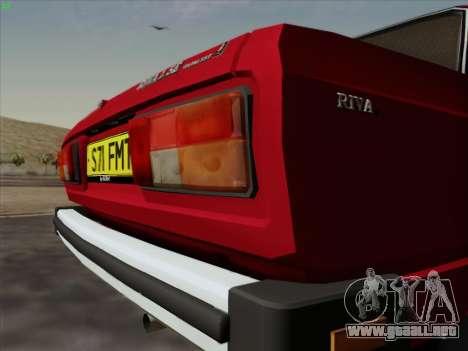 Lada 2105 RIVA (exportación) 2.0 para visión interna GTA San Andreas