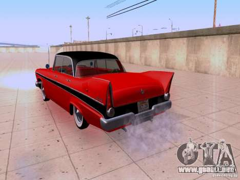 Plymouth Belvedere Sport Sedan 1957 para GTA San Andreas vista hacia atrás