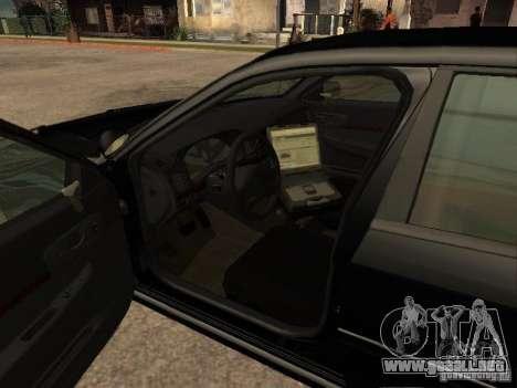 Chevrolet Impala Undercover para GTA San Andreas vista posterior izquierda