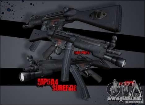 MP5A4 Surefire para GTA San Andreas segunda pantalla