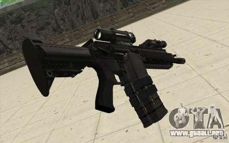 Rifle HK416 para GTA San Andreas segunda pantalla