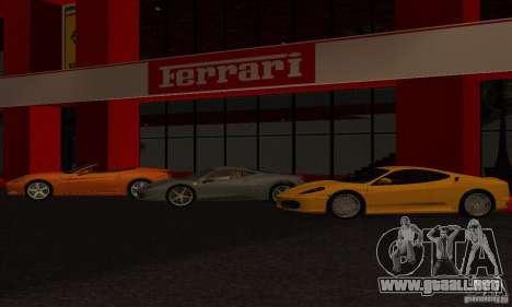 Nuevo Showroom de Ferrari en San Fierro para GTA San Andreas segunda pantalla