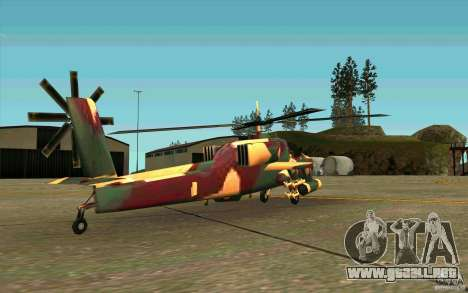 Hunter Armee Look para la visión correcta GTA San Andreas