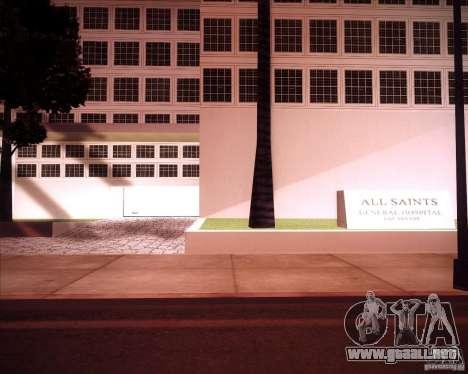 All Saints Hospital para GTA San Andreas segunda pantalla