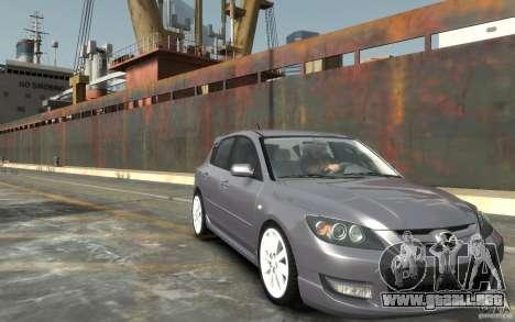 Mazda 3 para GTA 4 vista hacia atrás