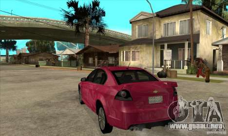 Chevrolet Lumina SS para GTA San Andreas vista posterior izquierda