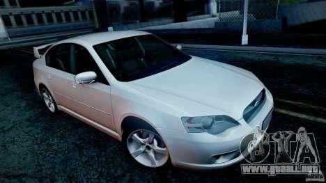 Subaru Legacy 2004 v1.0 para las ruedas de GTA San Andreas