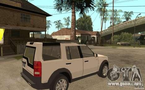Land Rover Discovery 3 V8 para la visión correcta GTA San Andreas