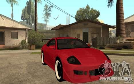 Mitsubishi Eclipse 2003 V1.0 para GTA San Andreas vista hacia atrás