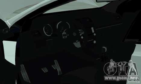 Volkswagen Golf R Modifiye para visión interna GTA San Andreas