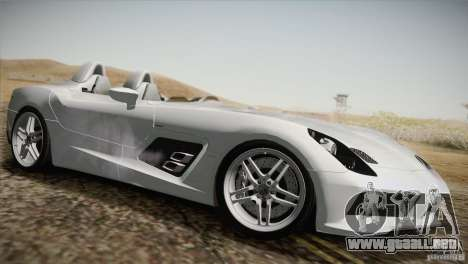 Mercedes-Benz SLR Stirling Moss 2005 para vista inferior GTA San Andreas