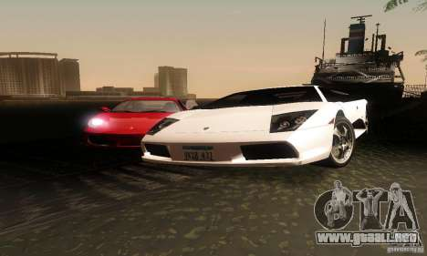 Lamborghini Murcielago para GTA San Andreas vista hacia atrás