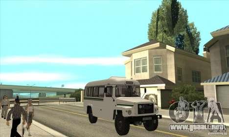 Kavz-39766 para GTA San Andreas vista hacia atrás