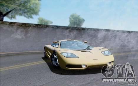 McLaren F1 Clinic 1992 para la visión correcta GTA San Andreas