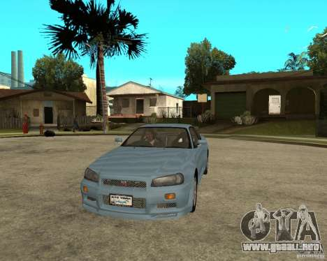 Nissan SkyLine R-34 Tunable para vista lateral GTA San Andreas