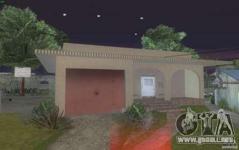 Cuatro casas nuevas en Grove Street para GTA San Andreas segunda pantalla