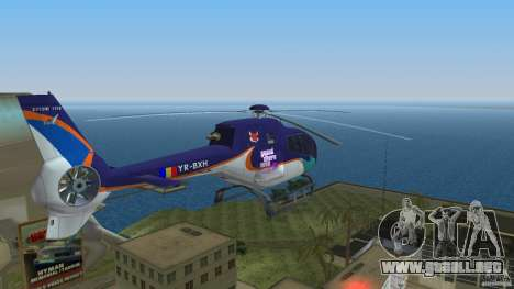 Eurocopter Ec-120 Colibri para GTA Vice City vista interior