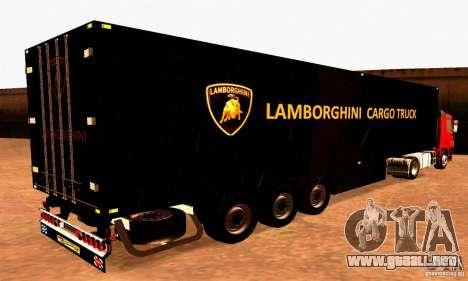 Lamborghini Cargo Truck para GTA San Andreas left