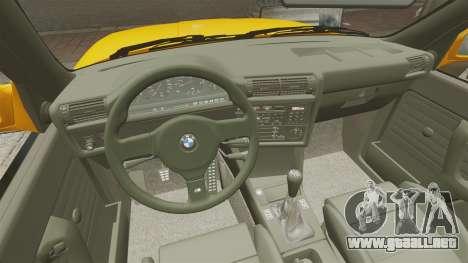 BMW M3 E30 v2.0 para GTA 4 vista superior
